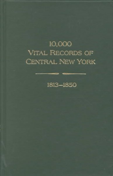 10,000 vital records of central New York, 1813