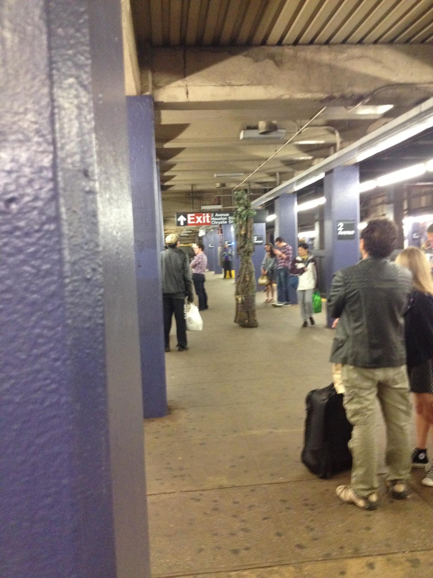 Ent on New York Subway