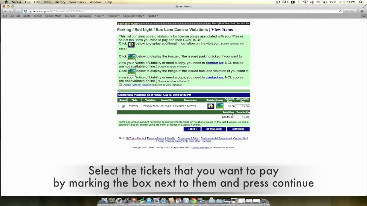 how to pay your new york city parking tickets online youtube
