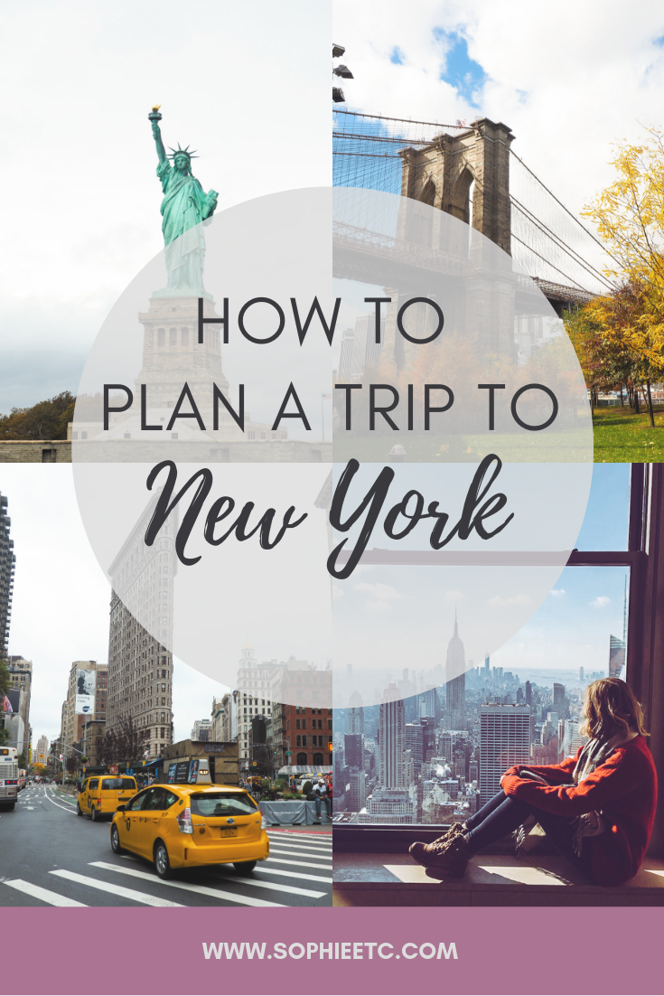 How to plan a trip to New York City
