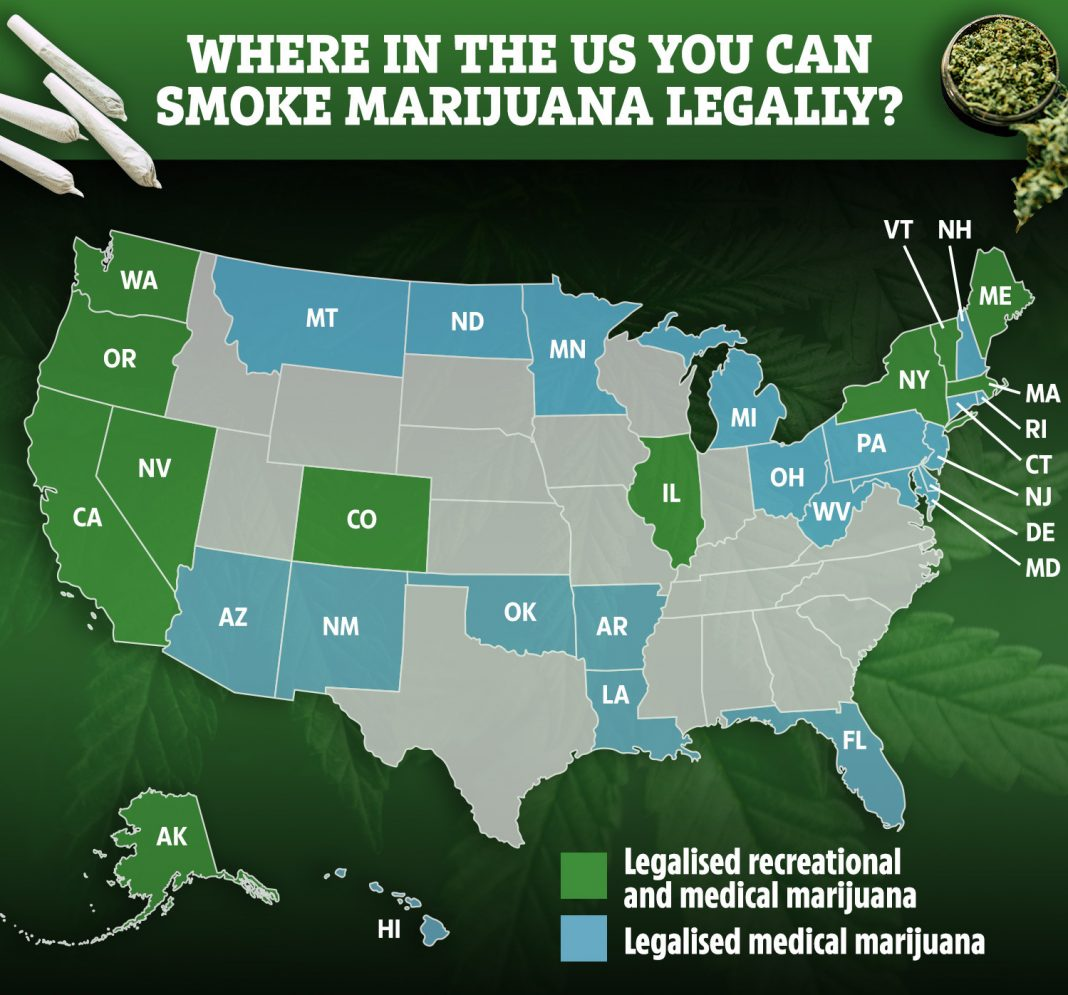is cannabis illegal in uk and where is weed legal to smoke