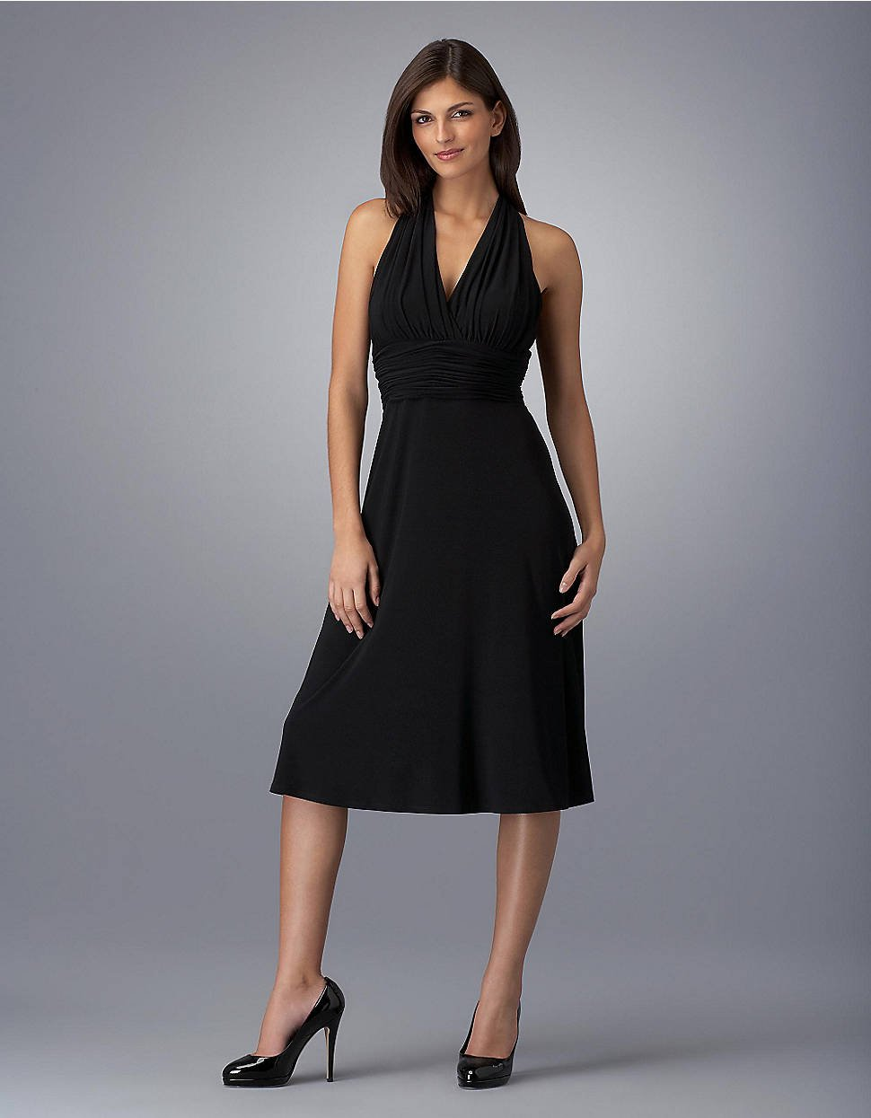 jones new york marilyn empire waist dress in black lyst