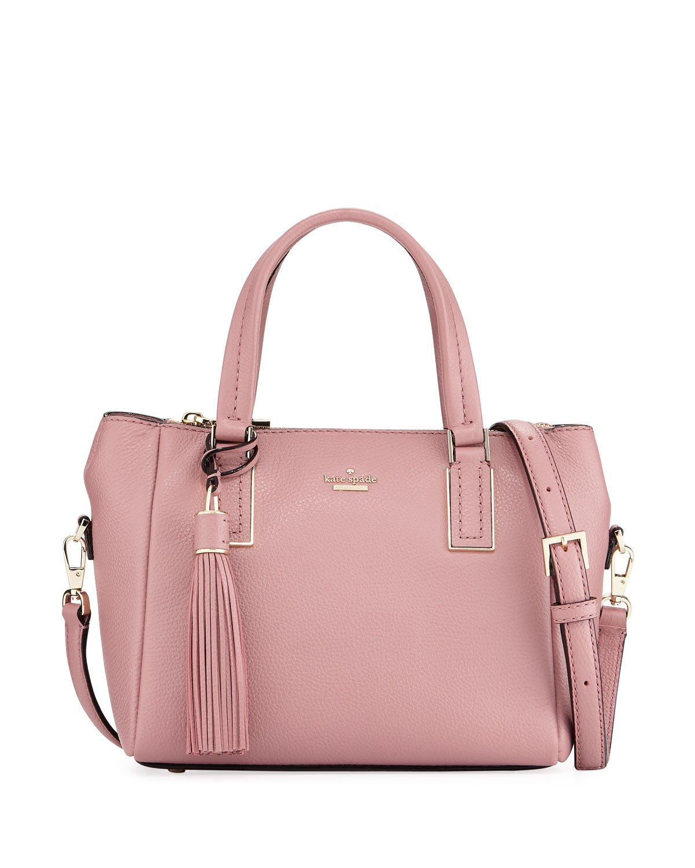 kate spade new york alena small pebbled satchel bag ...