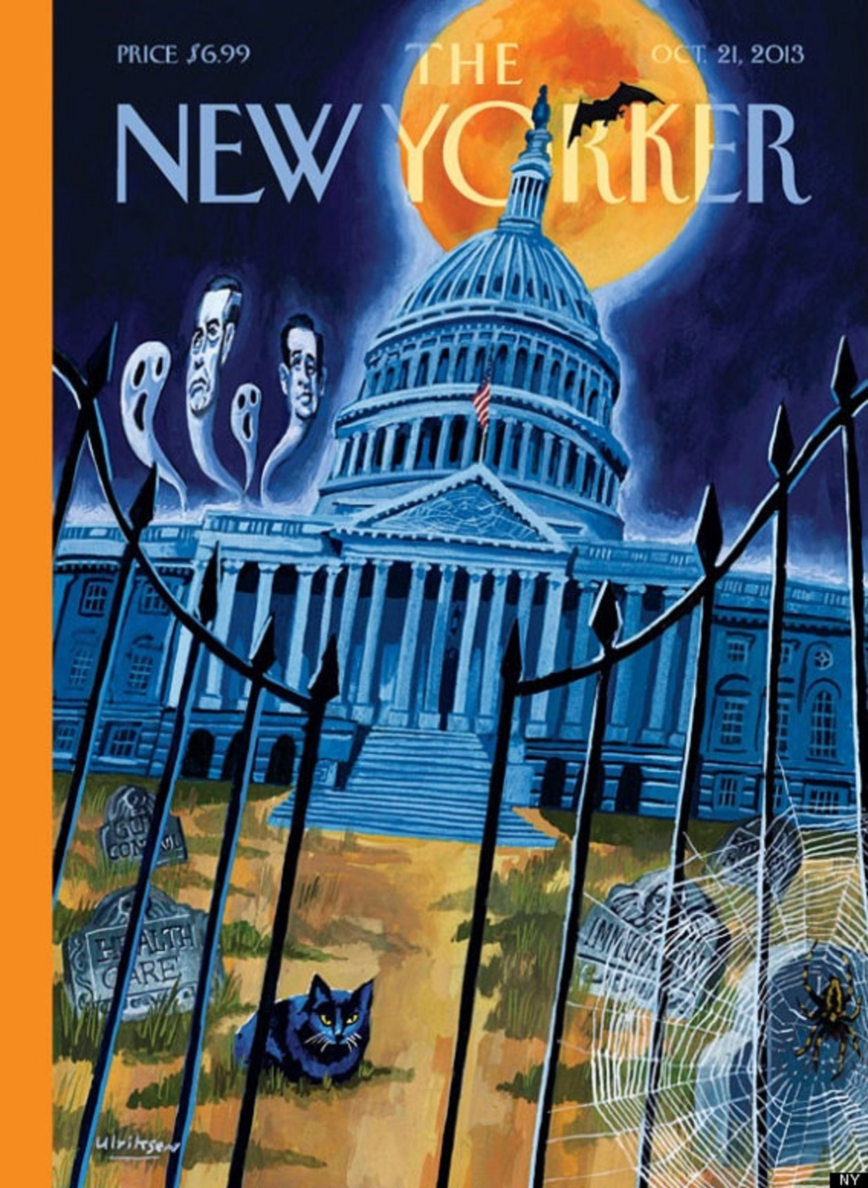 The New Yorker Magazine Cover: The Capital as a Haunted ...